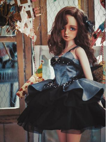 1/3 1/4 Clothes BJD Girl Blue Dress Suit for SD/MSD/DSD Ball-jointed Doll