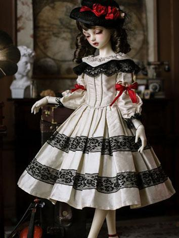 1/3 Clothes BJD Girl White Dress Suit for SD Ball-jointed Doll