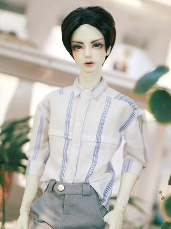 BJD Clothes Boy White&Blue Stripe Shirt for SD/SD17/70CM/80CM Ball-jointed Doll