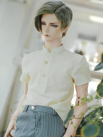 BJD Clothes Boy Light Yellow Shirt for SD/SD17/70CM/80CM Ball-jointed Doll