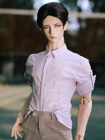 BJD Clothes Boy Light Purple Shirt for SD/SD17/70CM/80CM Ball-jointed Doll