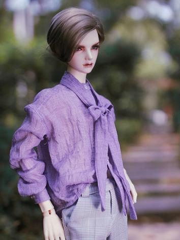 BJD Clothes Boy Purple Shir...