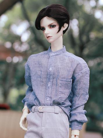 BJD Clothes Boy Blue Shirt ...