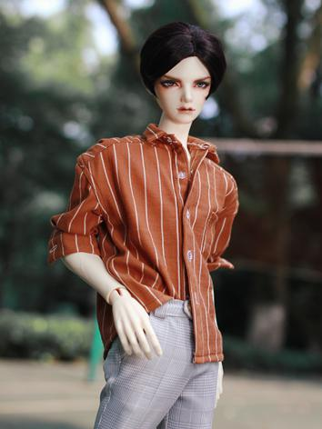 BJD Clothes Boy Orange Shirt for SD/SD17/70CM/80CM Ball-jointed Doll