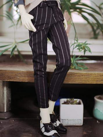 BJD Clothes Boy Stripe Trousers Eighth Pants for SD/SD17/70CM/80CM Ball-jointed Doll