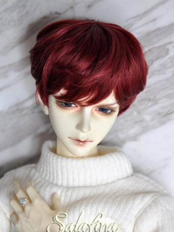 BJD Wig Male Gold/Beige/Dark Brown/Wine/Flaxen SHort Hair Wig for SD Size Ball-jointed Doll