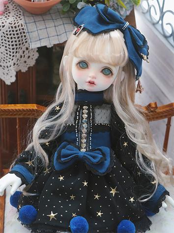 1/4 Clothes Girl/Boy Dark Blue Suit for MSD Ball-jointed Doll