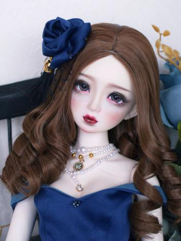 1/3 1/4 Wig Girl Coffee/Black/White Retro Curly Hair for SD/MSD Size Ball-jointed Doll