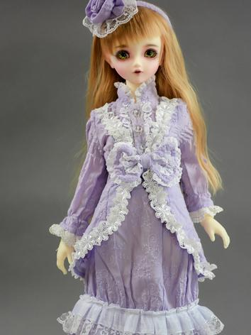 Custom-sized Clothes Girl Purple Dress for MDD/MSD/SD/DD/65CM Ball-jointed Doll