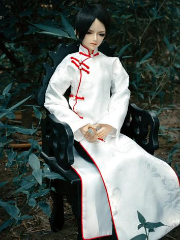 Custom-sized Clothes Boy White Ancient Suit for MSD/SD/DD/65CM/70CM/75CM Ball-jointed Doll