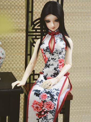 Custom-sized Clothes Girl Printed Cheongsam Dress for MDD/MSD/SD/DD/65CM Ball-jointed Doll