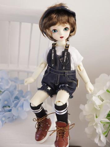 1/6 Clothes Girl/Boy Suspender Pants Suit for YSD Ball-jointed Doll