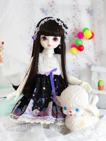 1/4 1/6 Clothes Girl Black/...