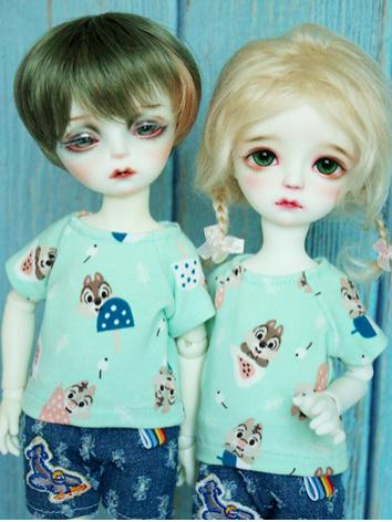 BJD Clothes Boy/Girl Printed T-shirt Top for MSD/YOSD 1/8 Ball jointed Doll