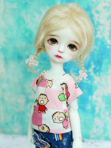 BJD Clothes Boy/Girl Printed T-shirt Top for MSD/YOSD Ball jointed Doll