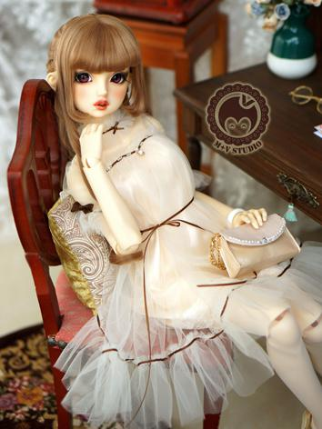 1/3 DD Clothes Girl White Dress for DD/SD Size Ball-jointed Doll