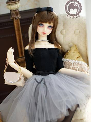 1/3 DD Clothes Girl Black Dress for DD/SD Size Ball-jointed Doll