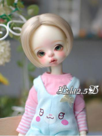 BJD Wig Girl/Boy Soft Gold [11] for MSD Size Ball-jointed Doll