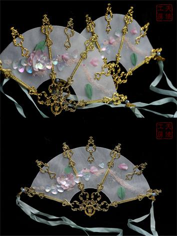 BJD 1/3 Mandarava Peach Blossom Fan JE318013 for SD Ball-jointed doll