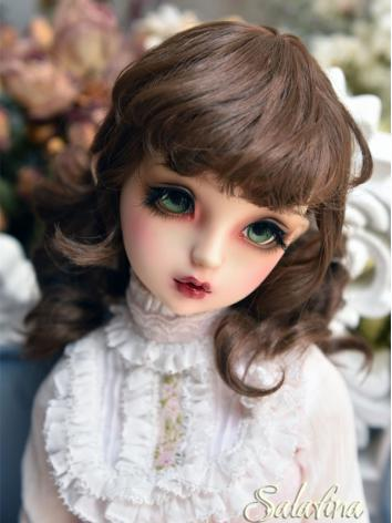 BJD Wig Girl Brown/Light Gold Curly Hair for SD/MSD/YSD Size Ball-jointed Doll