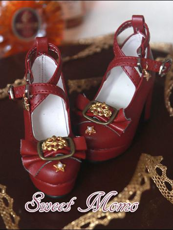 Bjd Girl Shoes White/Brown/...