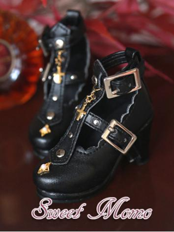 Bjd Girl Shoes Black Gothic High heels shoes for SD Ball-jointed Doll