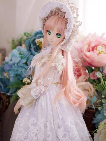 BJD Clothes DD/SD10/SD13 size Girl White Wedding Dress Suit [Flower Fairy ] Ball-jointed Doll