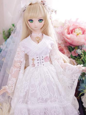 BJD Clothes DD/SD10/SD13 size Girl White Dress Suit [Lace Garden ] Ball-jointed Doll