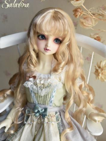 BJD Wig Girl Gold/Brown Hair for SD/MSD Size Ball-jointed Doll