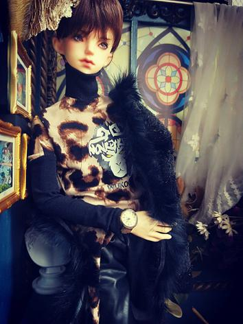 BJD Clothes Boy Black Coat ...