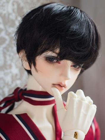 1/3 Wig Boy Purple/Pink/Black Short Hair for SD/MSD Size Ball-jointed Doll