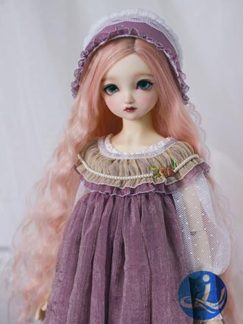 BJD Wig Girl Pink/Purple Lo...