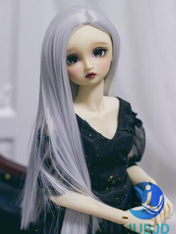 BJD Wig Girl Silver Wwhite Long Straight Hair for SD Size Ball-jointed Doll