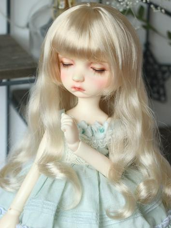 BJD Wig Girl Blonde Curly Hair for SD/MSD/YOSD Size Ball-jointed Doll
