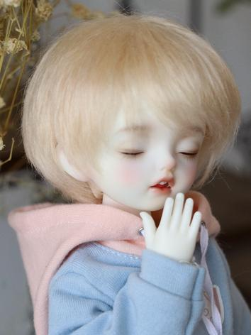 BJD Wig Girl/Boy Light Gold Short Hair for YOSD Size Ball-jointed Doll