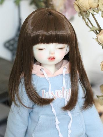 BJD Wig Girl Blonde/Chocolate Hair for MSD/YOSD Size Ball-jointed Doll