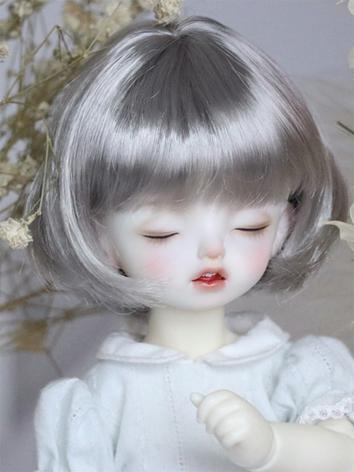 BJD Wig Girl Silver Gray Hair for MSD/YOSD Size Ball-jointed Doll