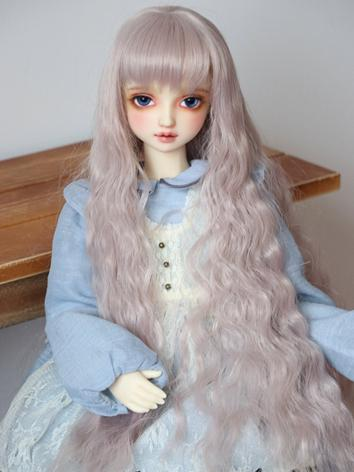 BJD Wig Girl Light Purple C...