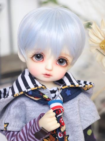 BJD Wig Boy Mint/Blue Short Hair for MSD/YOSD Size Ball-jointed Doll