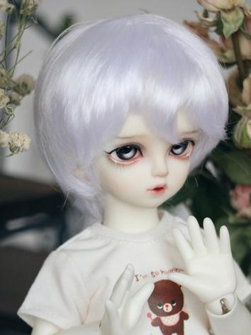 BJD Wig Boy/Girl White Short Hair for YOSD Size Ball-jointed Doll