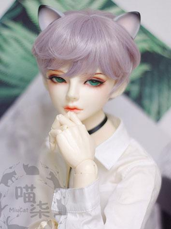 BJD Wig Boy Purple Short Hair for SD Size Ball-jointed Doll
