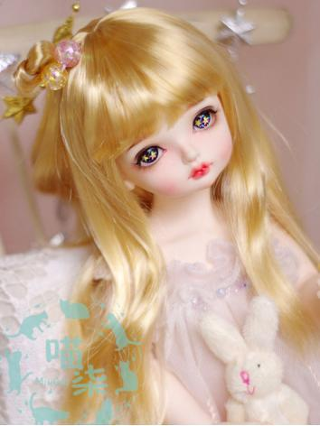 BJD Wig Girl Dark Gold Hair...