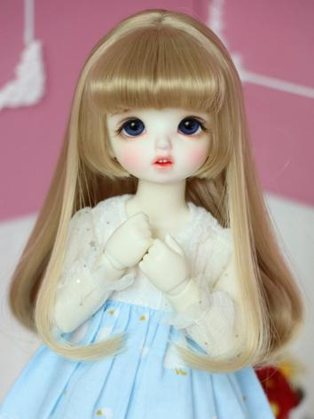 BJD Wig Girl Gold Hair for ...