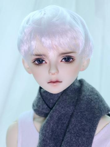 BJD Wig Boy White Short Hair for SD Size Ball-jointed Doll