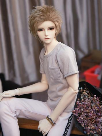 BJD Clothes Boy Light Gray T-shirt for SD/70cm/MSD Ball-jointed Doll