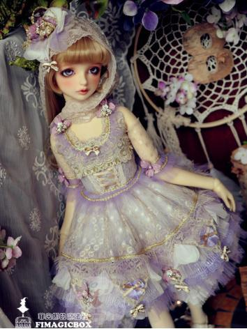 BJD Clothes Girl Lavender L...