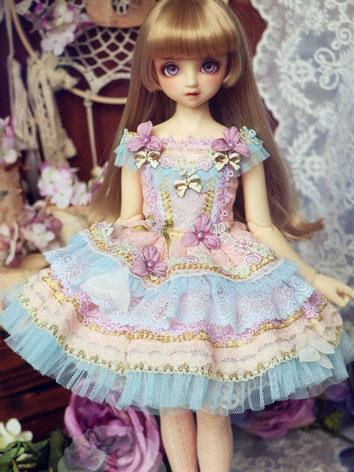 BJD Clothes Girl Blue&Pink ...