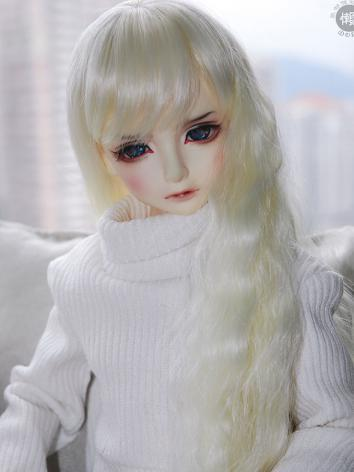 BJD Wig Girl Beige Long Cur...