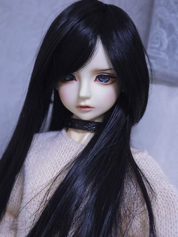 BJD Wig Boy/Girl Black Long...