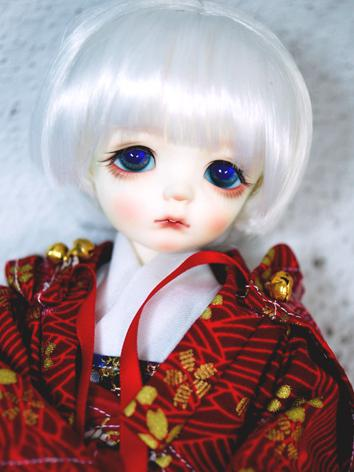 BJD Wig Girl/Boy White Shor...